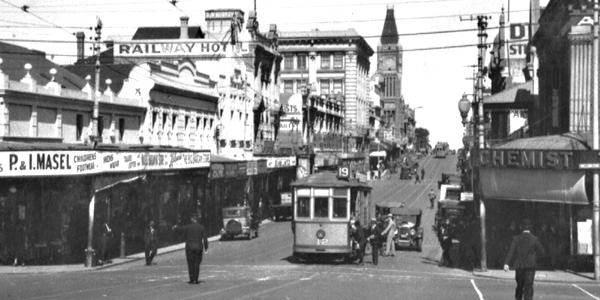 Perth Tram 12 Barrack St