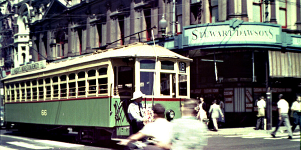 Perth Tram 66 Barrack St
