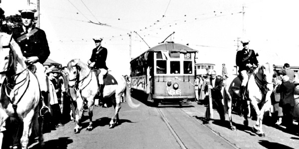 Perth Tram 66 Barrack St Jetty Last Day